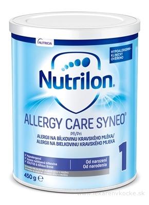 Nutrilon 1 ALLERGY CARE SYNEO mliečna výživa v prášku (od narodenia) (inov. 2019) 1x450 g