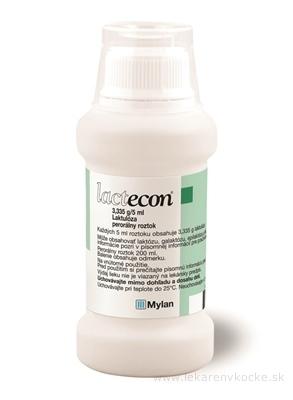 LACTECON sol por 133,4 mg (fľ.HDPE) 1x200 ml