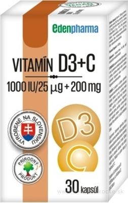 EDENPharma VITAMÍN D3 + C cps 1x30 ks