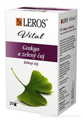 LEROS VITAL Ginkgo a zelený čaj nálevové vrecúška 20x2 g (40 g)