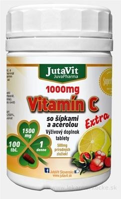JutaVit Vitamín C 1000 mg so šípkami a acerolou tbl (extra) 1x100 ks