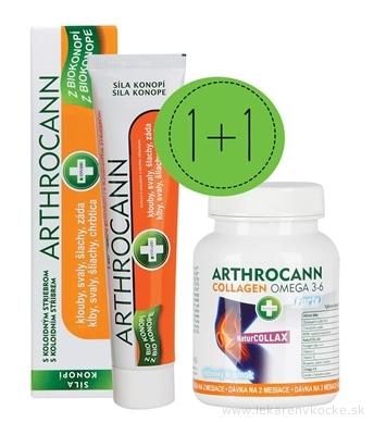 ANNABIS Dvojbalenie ARTHROCANN GÉL s koloid. striebrom 75 ml + COLLAGEN Omega 3-6 Forte Tablety 60 ks, 1x1 set