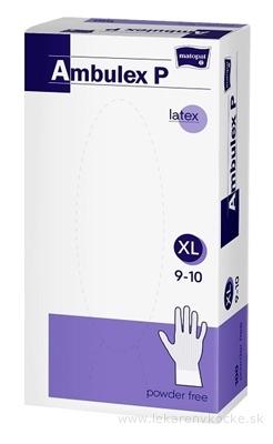 Ambulex P rukavice LATEXOVÉ, potiahnuté polymérom veľ. XL, nesterilné, nepudrované 1x100 ks