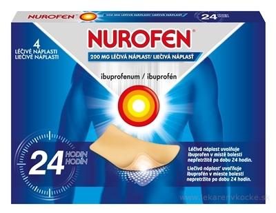 NUROFEN 200 mg liečivá náplasť emp med (vre.PET/LDPE/Al/LDPE) 1x4 ks