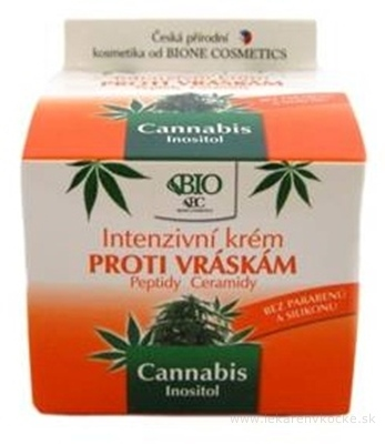 BIO Cannabis Intenzívny KRÉM PROTI VRÁSKAM 1x51 g