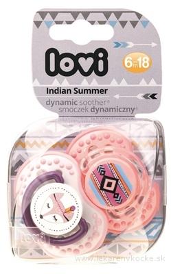 LOVI Dynamický utišujúci cumlík Indian Summer (6-18m) Girl, 1x2 ks