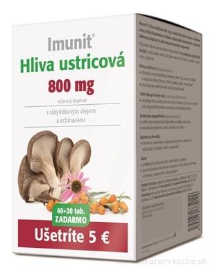 Imunit HLIVA ustricová 800 mg s rakytník. a echin. cps 40+20 zadarmo (60 ks)