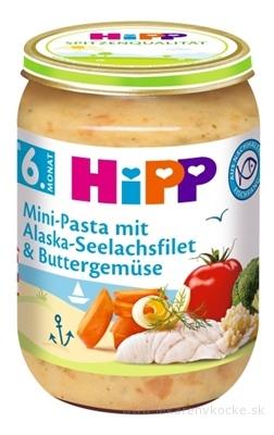 HiPP Príkrm Mini cestoviny s Al.treskou v zelenine zeleninovo-mäsový príkrm (od ukonč. 5.mesiaca) 1x190 g