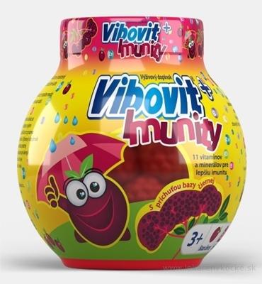VIBOVIT + IMUNITY želé s príchuťou bazy čiernej 1x50 ks
