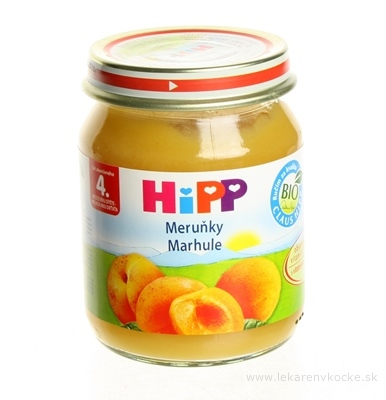 HiPP Príkrm ovocný Marhule (od ukonč. 4. mesiaca) 1x125 g