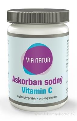 VIA NATUR Askorban sodný Vitamín C kryštalický prášok 1x85 g