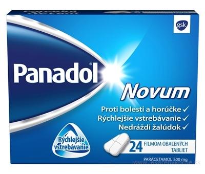 Panadol Novum 500 mg tbl flm (blis.PVC/Al-nepriehľad.) 1x24 ks