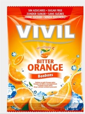 VIVIL BONBONS BITTER ORANGE drops s príchuťou horkého pomaranča s vitamínom C, bez cukru 1x80 g