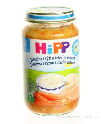 HiPP Príkrm Zelenina, teľacie mäso a ryža Junior menu (od ukonč. 9. mesiaca) 1x220 g