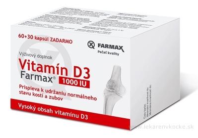FARMAX Vitamín D3 1000 IU cps 60+30 zadarmo (90 ks)