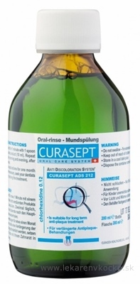 CURASEPT ADS 212 ÚSTNA VODA 0,12% 1x200 ml