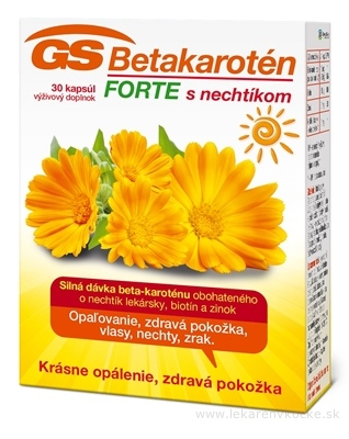 GS Betakarotén FORTE s nechtíkom cps 1x30 ks