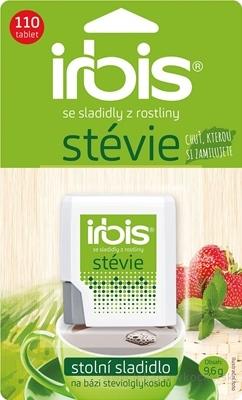 Irbis Stévia tbl (stolové sladidlo na báze glykozidov steviolu) 1x110 ks