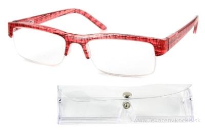 American Way okuliare na čítanie FLEX červeno-čierne +2.50 + púzdro 1 ks, 1x1 set