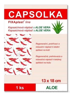 CAPSOLKA Kapsaicínová náplasť s ALOE VERA hrejivá, 13 x 18 cm, 1x1 ks