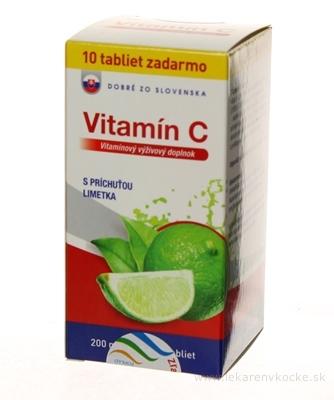 Dobré z SK Vitamín C 200 mg príchuť LIMETKA tbl 60+10 zadarmo (70 ks)