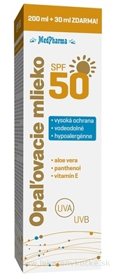 MedPharma OPAĽOVACIE MLIEKO SPF 50 200+30 ml zdarma (230 ml)
