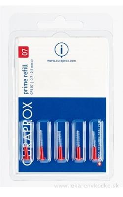 CURAPROX CPS 07 prime refill červená medzizubné kefky bez držiaka 1x5 ks