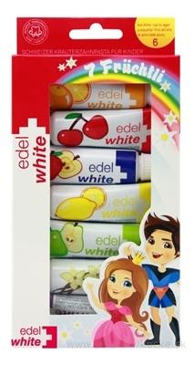 EDEL-WHITE DETSKÉ ZUBNÉ PASTY s ovocnými príchuťami 7x9,4 ml