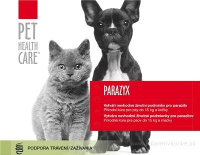 PET HEALTH CARE PARAZYX tablety pre psov do 15 kg a mačky, 1x22 ks