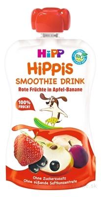 HiPP HiPPis Smoothie Jablko Banán Červené ovocie kapsička (od 1.roku) ovocný príkrm 1x120 ml