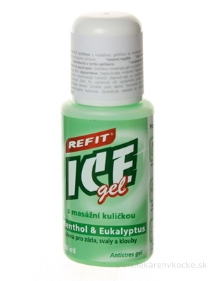 REFIT ICE GEL MENTOL EUKALYPTUS ROLL ON 1x80 ml