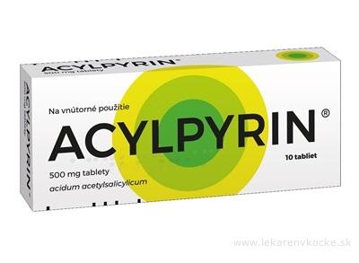 ACYLPYRIN tbl 500 mg (blis. Al/PVC) 1x10 ks