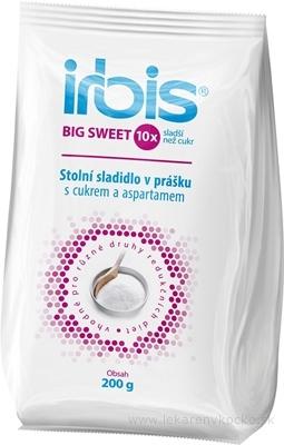 Irbis BIG SWEET stolové sladidlo v prášku s cukrom a aspartámom 1x200 g