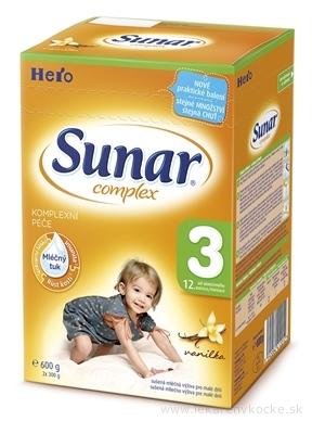 SUNAR COMPLEX 3 VANILKA mliečna výživa (od ukonč. 12. mesiaca) 1x600 g
