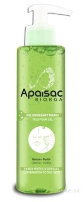 Apaisac BIORGA Penový gél na tvár zelená rada (Face Foam Gel) 1x200 ml