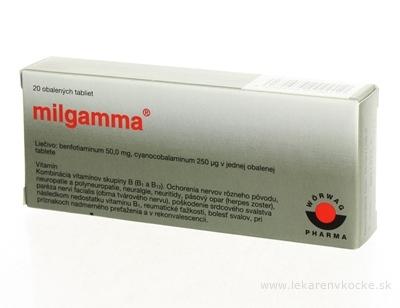 MILGAMMA tbl obd 50 mg/250 µg 1x20 ks