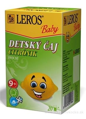 LEROS BABY DETSKÝ ČAJ CITRÓNIK ovocný 20x2 g (40 g)
