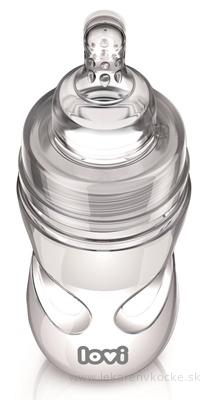 LOVI fľaša Medical+ Aktívne satie Super vent 250ml plast, silikónový dynamický cumlík 3m+, 1x1 set