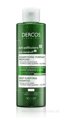 VICHY DERCOS ANTI-PELLICULAIRE šampón proti lupinám s peelingovým efektom, na mastné vlasy 1x250 ml