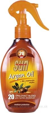 SUN ARGAN OIL opaľovacie MLIEKO SPF 20 1x200 ml