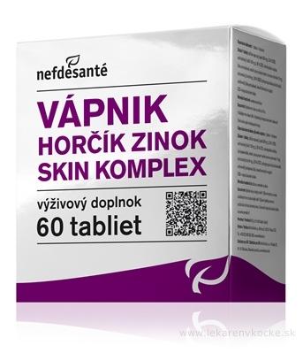 nefdesanté VÁPNIK HORČÍK ZINOK SKIN KOMPLEX tbl 6x10 (60 ks)