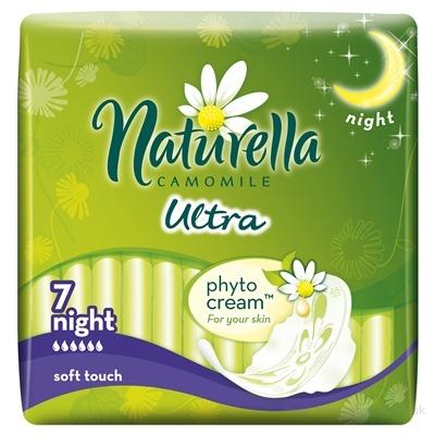 Naturella CAMOMILE Ultra Night hygienické vložky 1x7 ks