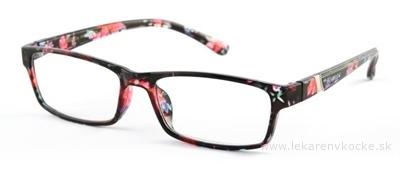 American Way okuliare na čítanie FLEX čierno-kvetinové +2.50, 1x1 ks