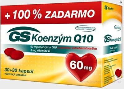 GS Koenzým Q10 60 mg cps 30+30 zadarmo (60 ks)