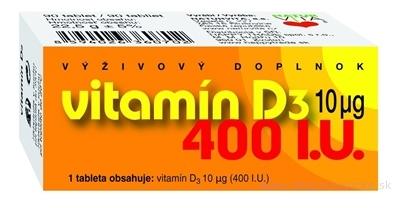 NATURVITA VITAMÍN D3  10 μg (400 I.U.) tbl 1x90 ks