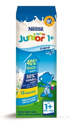 Nestlé JUNIOR 1+ Originál mliečna výživa pre batoľatá (od ukonč. 1. roka) 1x200 ml