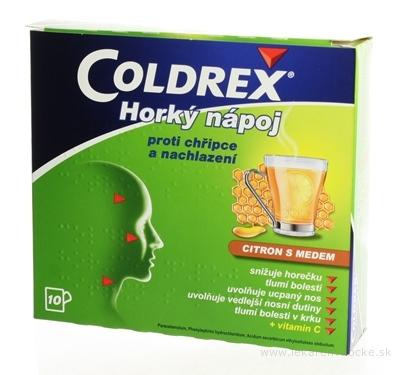 Coldrex Horúci nápoj Citrón s medom plo por 5 g (vrec.papier/PE/Al/PE) 1x10 ks