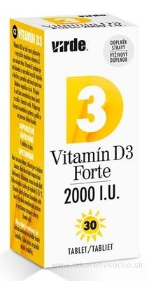 VIRDE Vitamín D3 Forte 2000 I.U. tbl 1x30 ks