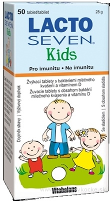 Vitabalans LACTOSEVEN Kids žuvacie tablety 1x50 ks