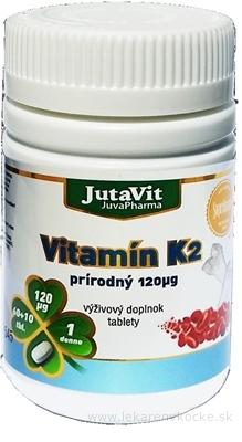 JutaVit Vitamín K2 prírodný 120 µg tbl 60+10 (70 ks)